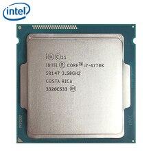 معالج إنتل كور i7 4770K SR147 3.5GHz 84W LGA 1150 رباعي النواة إنتل I7 4770K سطح المكتب مختبر 100% العمل