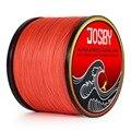 JOSBY 4 нити 1000 м PE плетеная рыболовная леска для соленой воды плетеный Карп Рыболовный шнур Pesca провод супер сильный Оранжевый многоцветный
