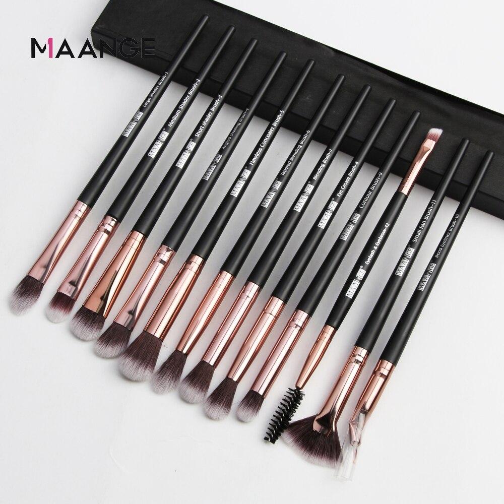 MAANGE Pro 3/5/12 PCS Makeup Brushes Set Eye Shadow Blending Eyeliner Eyelash Eyebrow Blush Make Up Brush Tools Kit Maquiagem 1