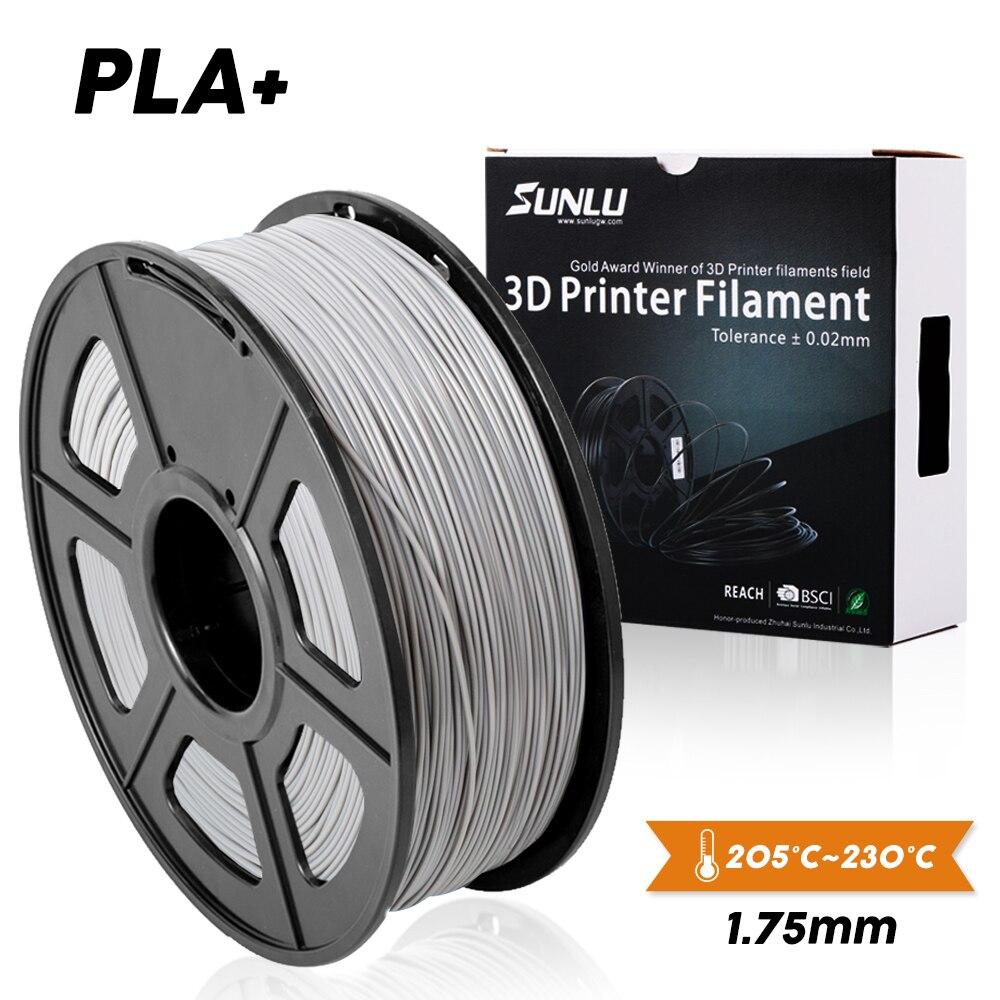 SUNLU PLA +/PLA 3D yazıcı Filament 1.75mm 1KG PLA PLUS Metal plastik Filament malzeme denizaşırı depo hızlı gemi en kaliteli