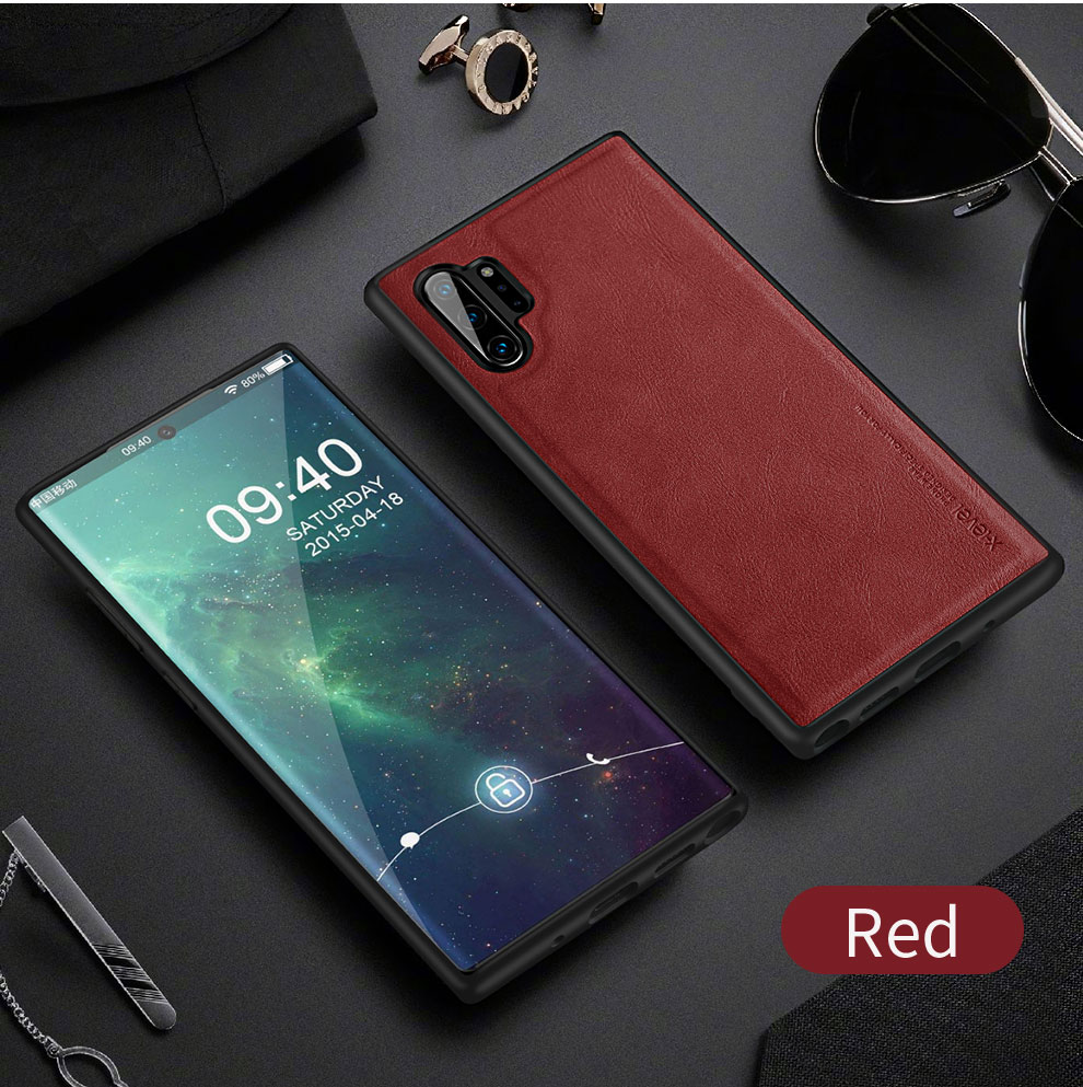 Hd22a627bca5e43b6ac5fd9d6a3a5a87be X-Level Leather Case For Samsung Note 10 Plus Soft Silicone Edge Back Phone Cover For Samsung Galaxy Note 10 Case Note10 Plus