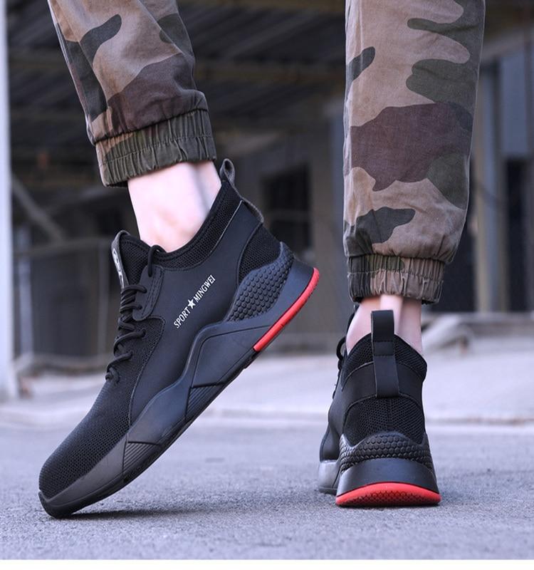Boots Sneakers Industrial-Shoes S3-Level Toe-Work Comfortable Steel Outdoor Men's Casual