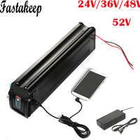 Silver fish style lithium 24V 36v 48V 52V 10ah 13ah 15ah 20ah 12ah ebike battery pack