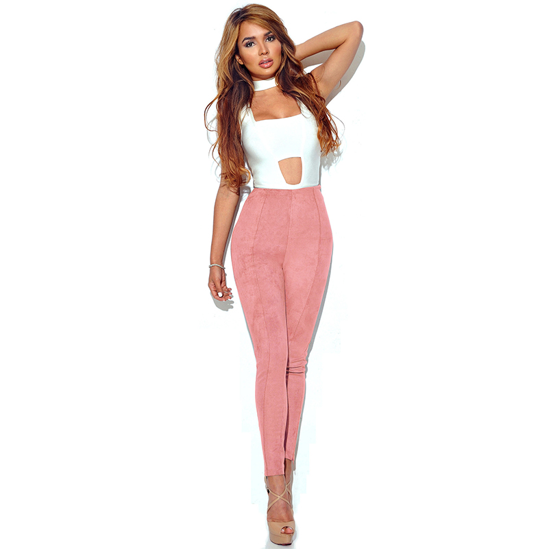 New Long Pants Work Spring High Women Waist 2020 Trousers Elastic Solid Style Skinny New Pants Pencail Waist Pencil Casual Pants