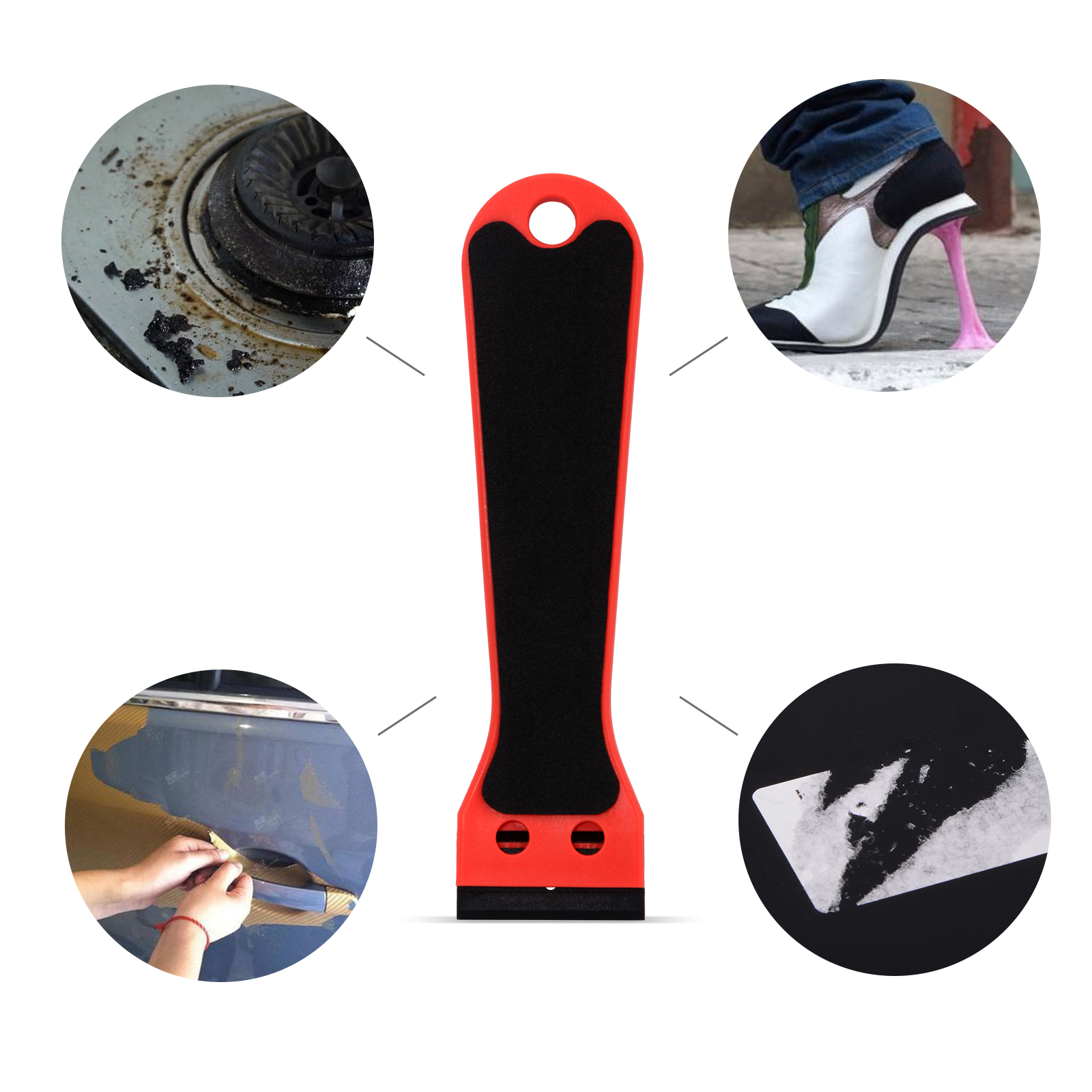 EHDIS Vinyl Car Film Razor Scraper 15cm Wrap Sticker Plastic Non-slip Squeegee Decal Ice Remove Clean Tool Auto Tint Accessories title=