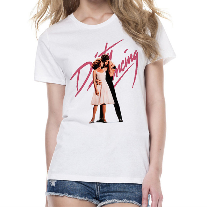 Dirty Dancing T Shirt Female Summer Fashion T-shirt Women Short Sleeve O-Neck White Tees Tops Print Female Clothes