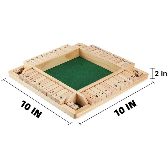 4 Sided 10 Numbers Board Game Wooden Shut The Box Game Family Party Club Ktv Drinking Game For Kids And Adults Educational Toys 6