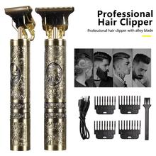 T9 USB Electric Hair Clipper Man 0mm Shaver Trimmer For Men Barber Professional Beard Rechargeable Hair Cutting Machine cheap HIENA CN(Origin) 1pcs Hair Trimmer metal MFXJQ-T9 180Mins