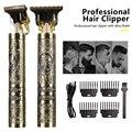 Машинка для стрижки волос T9 Мужская электрическая, USB-триммер для бритья, перезаряжаемая профессиональная машинка для бороды, 0 мм
