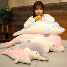 Gaint Pillows Cute Dolphin Plush Toys Doll Stuffed Sea Fish Pillow Soft Creative Kids For Children Christmas Gift for Girls