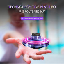 UFO Drone Infrared Sensing Control RC Quadcopter Induction Altitude Hold Mini Intelligent Induction Cool LED Aircraft kid gifts(China)
