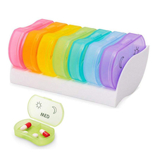 7 Day Weekly Style Morning Night Pill Holder Storage Organizer Plastic Container Case Portable Travel Pill Box