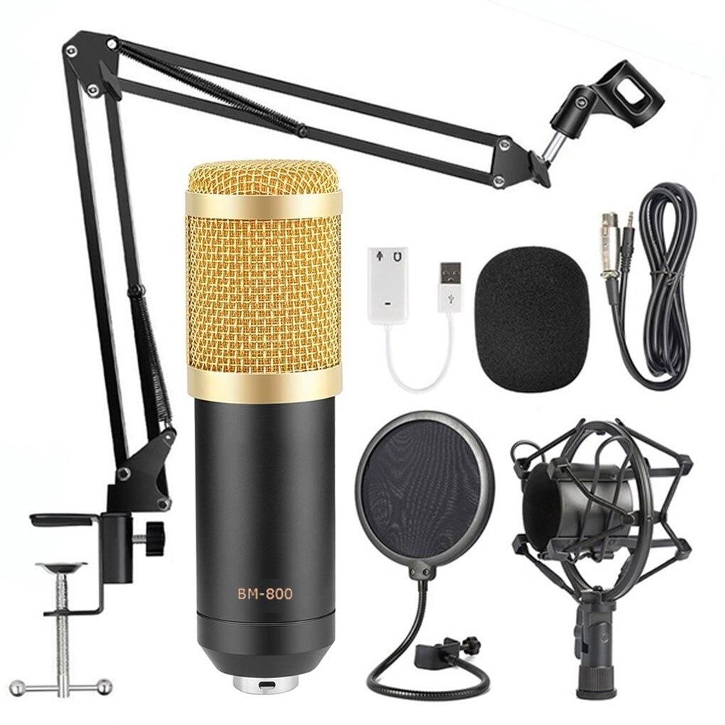 BM800 Estúdio de Gravação Microfone Condensador de