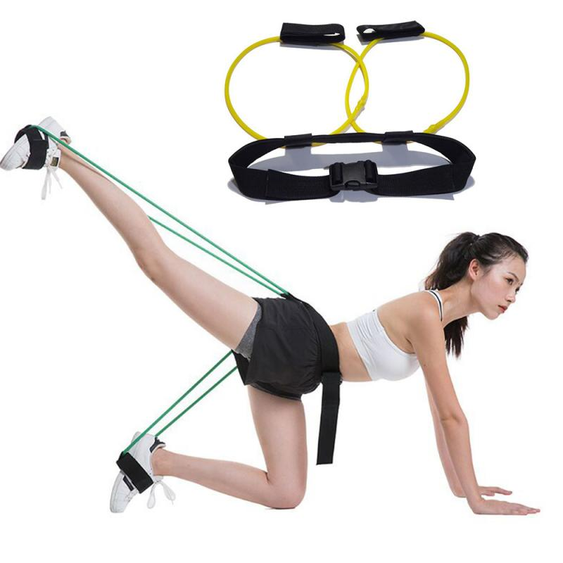 Fitness Booty Butt Bands Set Resistance Bands Pull Rope Suspension Pull Legs Muscle Training Adjust Waist Belt Pedal Exerciser