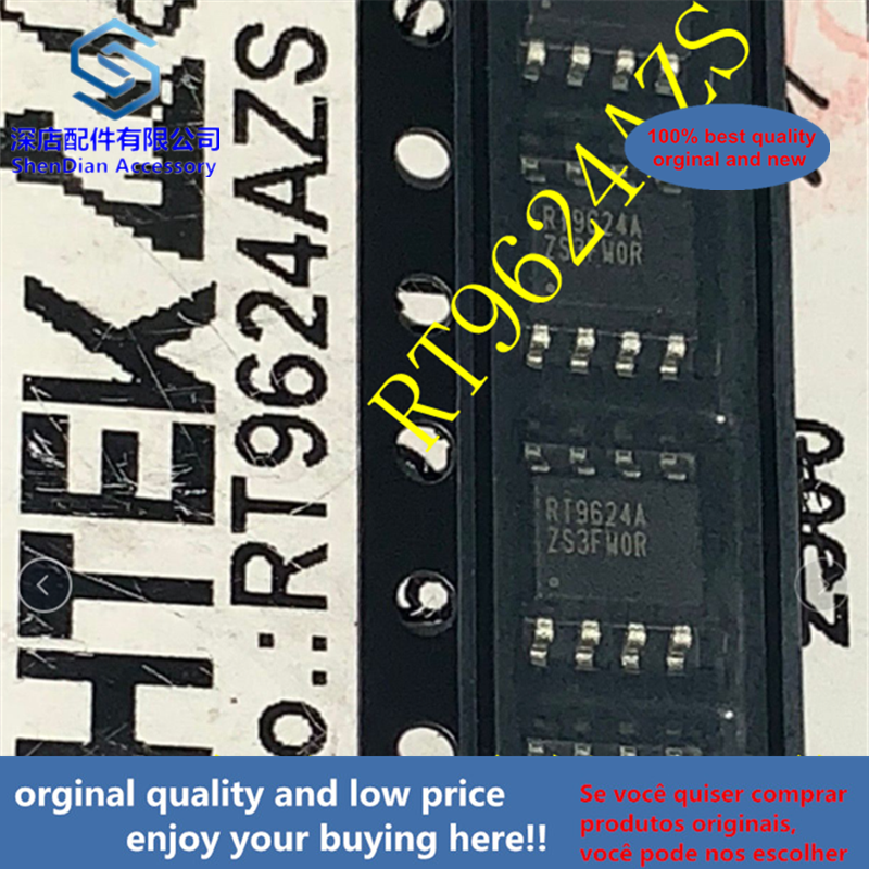 10pcs 100% Orginal And New RT9624AZS SOP8 RT9624A  Best Qualtiy