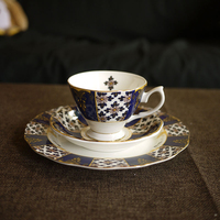 Tea Cups and Saucers European Bone China Coffee Cup Set Espresso Cups Home High Set Saucer Porcelain Ceramic Cup Crockery ABD552