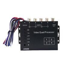 SUNTEX CCTV Quad Splitter Switcher Car Camera Processor System  4 Channel Color Video Processor With Remote Control RCA Adapter цена в Москве и Питере