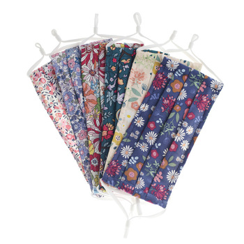 Small Floral Reusable and Washable Masks Fashion Printed Cotton Masks Dust-proof Breathable Men And Women Male And Female Daily