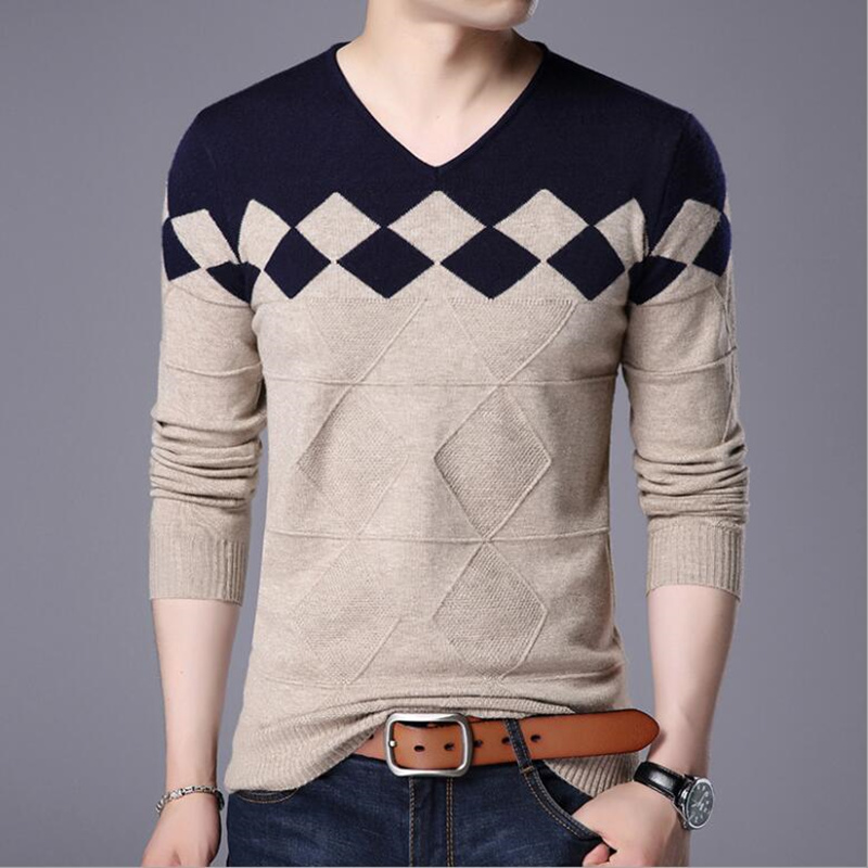 2019 Brand Clothing Sweater Men High Quality Cotton Knitted Men Pullover Autumn Winter Turtle-neck Men High Collar Sweater 4XL