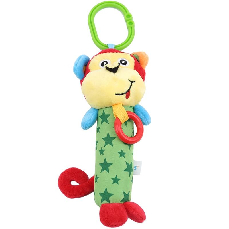 Baby Kids Rattle Toys 2019 Hot Sale Newborn Baby Cute Animal Monkey Hand Bell Development Bed Bell Toy For Newborn Best Gift