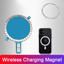 Wireless Charging Magnet for iPhone 12 Pro Max 12 Mini 11 8 Mobile Phone Charger Strong Magnetic Mental Cover