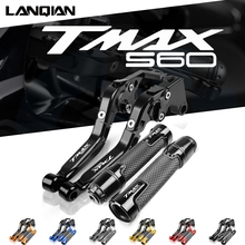 For Yamaha TMAX560 Motorcycle CNC Brake Clutch Levers Handlebar Hand Grips Ends TMAX 560 T MAX 560 2019 2020 2021 Accessories