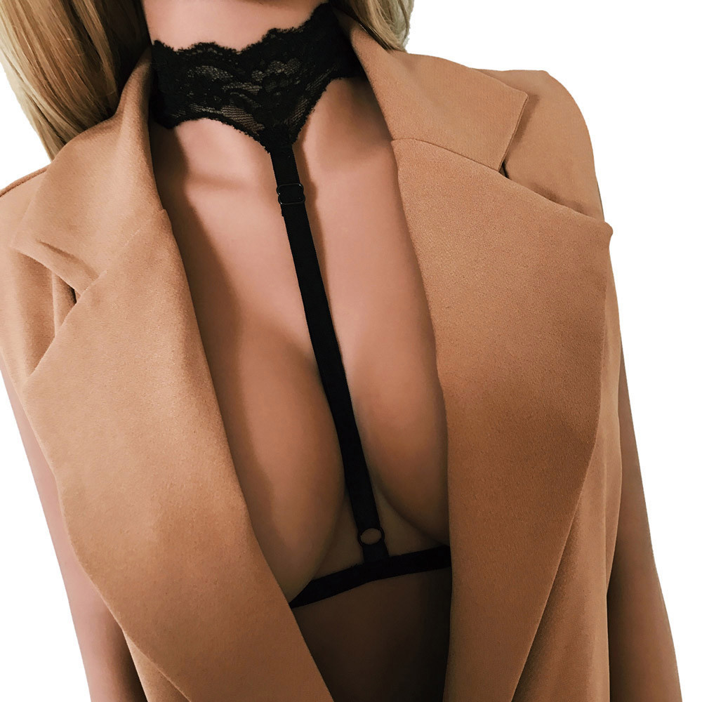 Sexy Women Ladies Hollow Strappy Bra Cage Crop Top Bustier Polyester solid Women's Intimates Bras #ZH