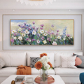 Handpainted Abstract Knife Flowers Oil Painting On Canvas Painting Wall Art Handmade Paintings Large Salon Decoration Unframed