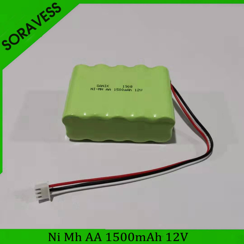 Soravess 1PCS <font><b>12V</b></font> <font><b>AA</b></font> 1500mah NiMH <font><b>Battery</b></font> Charger Set For Rc toys Cars Tanks Robots Boats Ni-MH <font><b>AA</b></font> <font><b>12v</b></font> Rechargeable <font><b>Battery</b></font> <font><b>Pack</b></font> image
