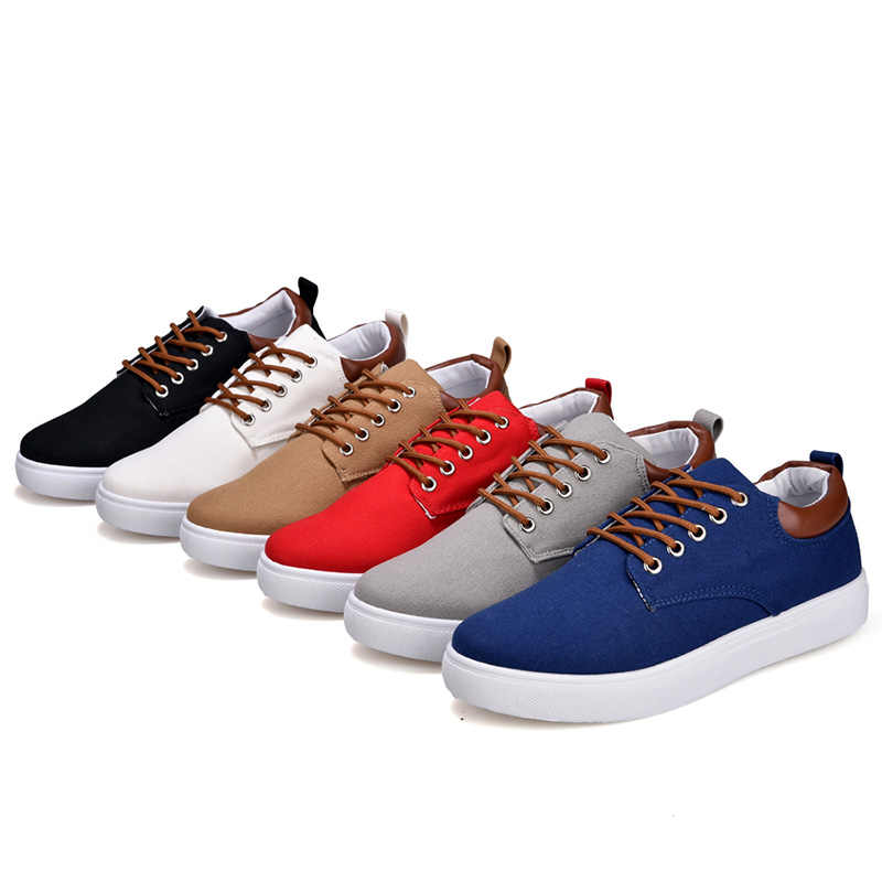2020 neue Ankunft Leinwand Schuhe Männer Frühling Sommer Casual Leinwand Schuhe Für Männer Lace-Up Wohnungen Männer Schuhe Fahr turnschuhe Männer Schuhe
