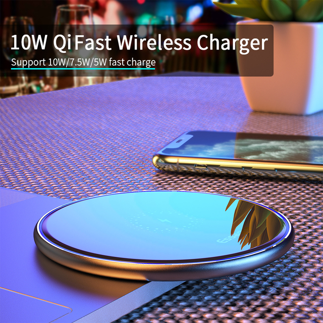 Essager Qi Caricatore Senza Fili Wireless Ricarica Pad Induzione Per il iPhone 11 Pro X Xiaomi mi 10 Samsung s20 2