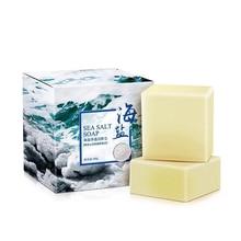 Removal Pimple Pore Acne Treatment Sea Salt Soap Cleaner Moisturizing Oil-Control Goat Milk Face Care Wash Basis Soaps100g