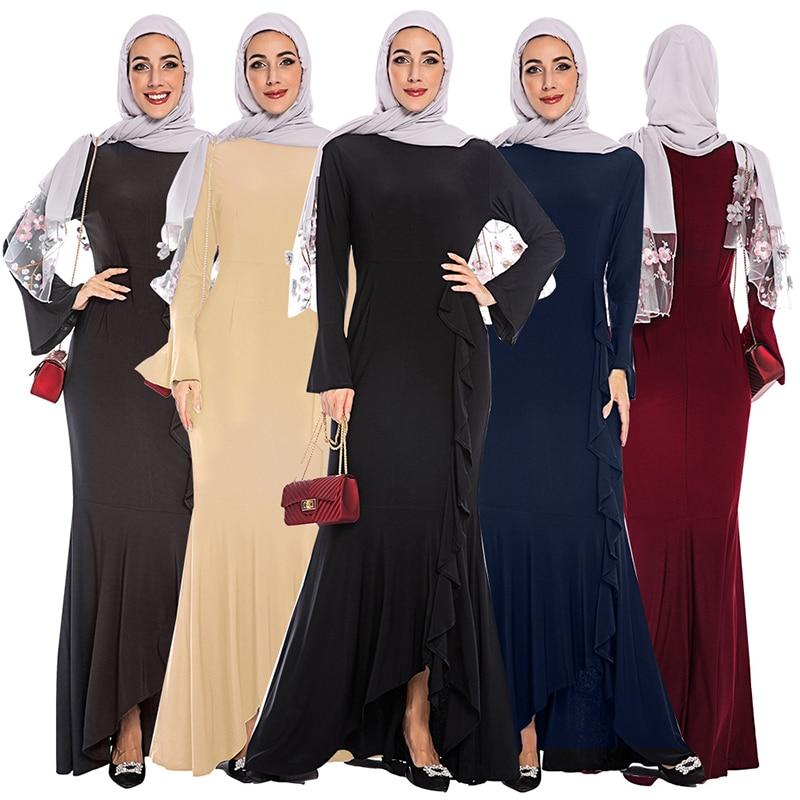 Abaya Turkish Muslim Dress Islamic Clothing Abayas For Women Hijab Dresses Islam Jilbab Caftan Dubai Kaftan Elbise Robe Femme