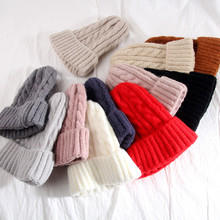 Women Beanies Girl Luxury winter hat Candy Colors Hats Thick Warm Bonnet Beanie Soft Knitted Beanies Cotton Twist Pattern Caps women new design caps twist pattern women winter hat knitted sweater fashion hats 6 colors y1