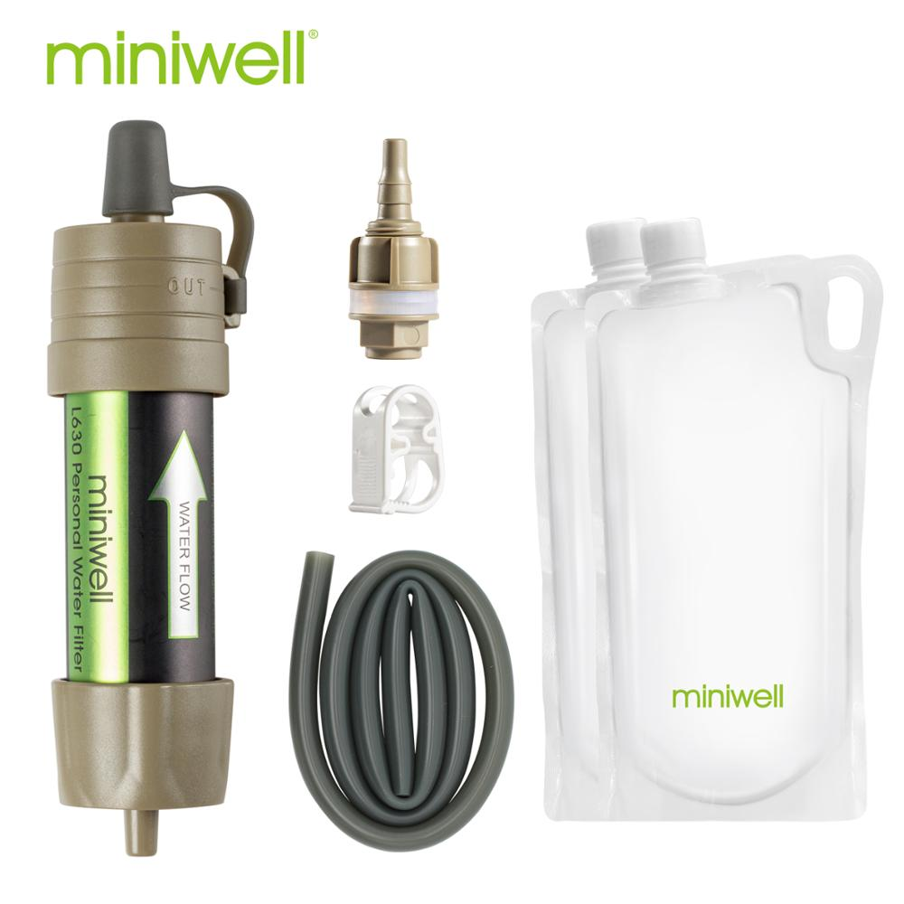 miniwell L630 Portable Water Filter Emergency Survival kit with Bag for Travelling ,Hiking & Camping|kit kits|kit survivalkit emergency - AliExpress