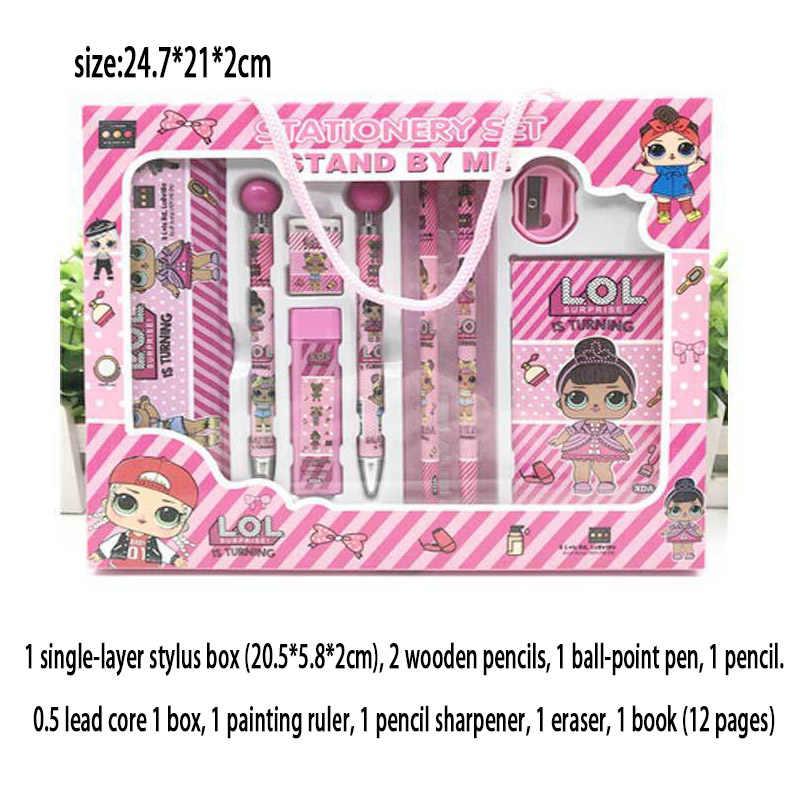 Estuche de lápices lol surprise dolls Original de doble capa bolsa grande de dibujos animados Unisex útiles escolares para estudiantes 10*20*7cm