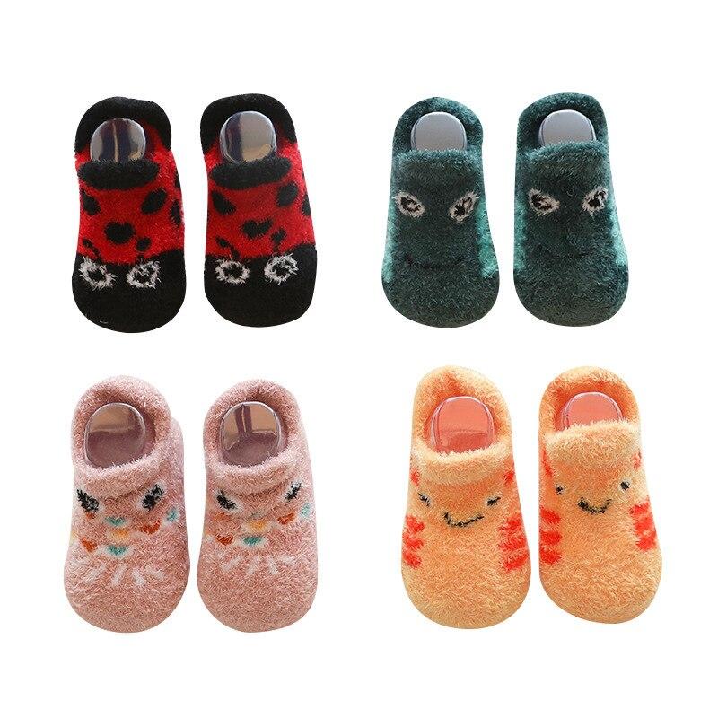 Cartoon Baby Socks Shoes Newborn Non-slip Floor Socks Winter Warm Baby Shoes