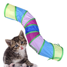 Cat Toy Training-Toy Kitty Funny Outdoor for Puppy-Rabbit Play Toys-Tube Pet-Cat 3-Holes