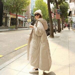 Image 3 - EWQ Chaqueta de invierno con capucha y bolsillos dobles para mujer, Abrigo acolchado de algodón de manga larga con cremallera, AH53012L, a la moda, 2020
