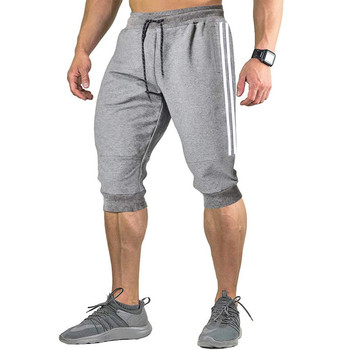 2021 New Men Jogger Casual Slim Harem Shorts Soft 3/4 Trousers Fashion New Brand Men Sweatpants Summer Comfy Male Shorts  XXXL