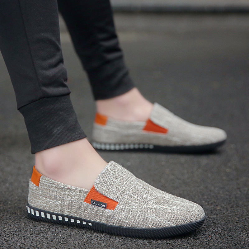 Fashion High Quality 2019 Spring Summer Light Breathable Men Casual Slip on Loafers Driving Lazy Male Flats Canvas Shoes PA 53