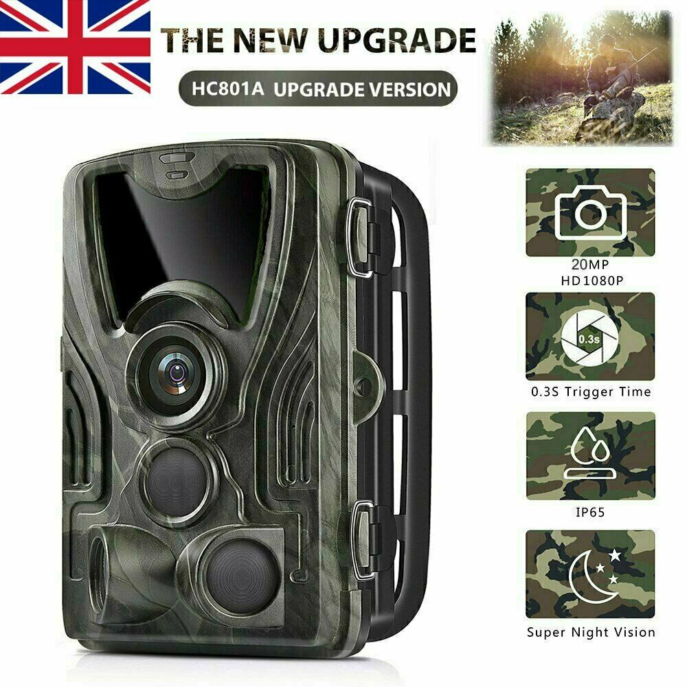 20MP Trail Camera Outdoor Wildlife Hunting IR Filter Night View Motion Detection Camera Scouting Cameras Photo Traps Track