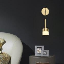 Led Wall Lamp Modern Golden Arm Sconce Lights Decoration for Bedside Dining Room Bedroom Interior Reading Lighting Fixtures