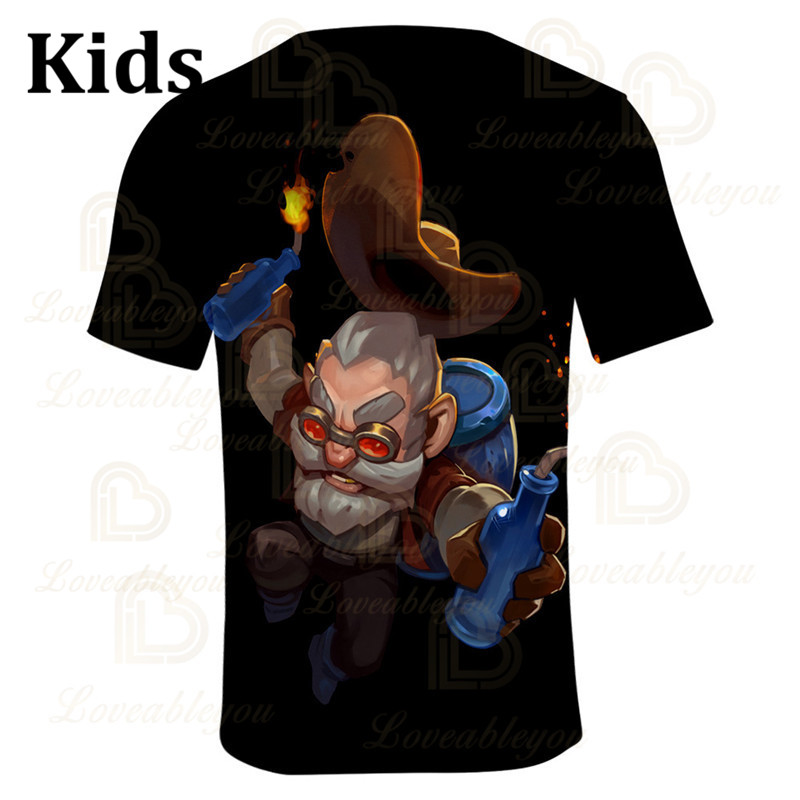 NITA Shooting Game PRIMO 6 To 19 Years Kids Leon T-shirt 3D Printed Tshirt Boys Girls Gameing Cartoon T-shirt Tops Teen Clothes  - buy with discount