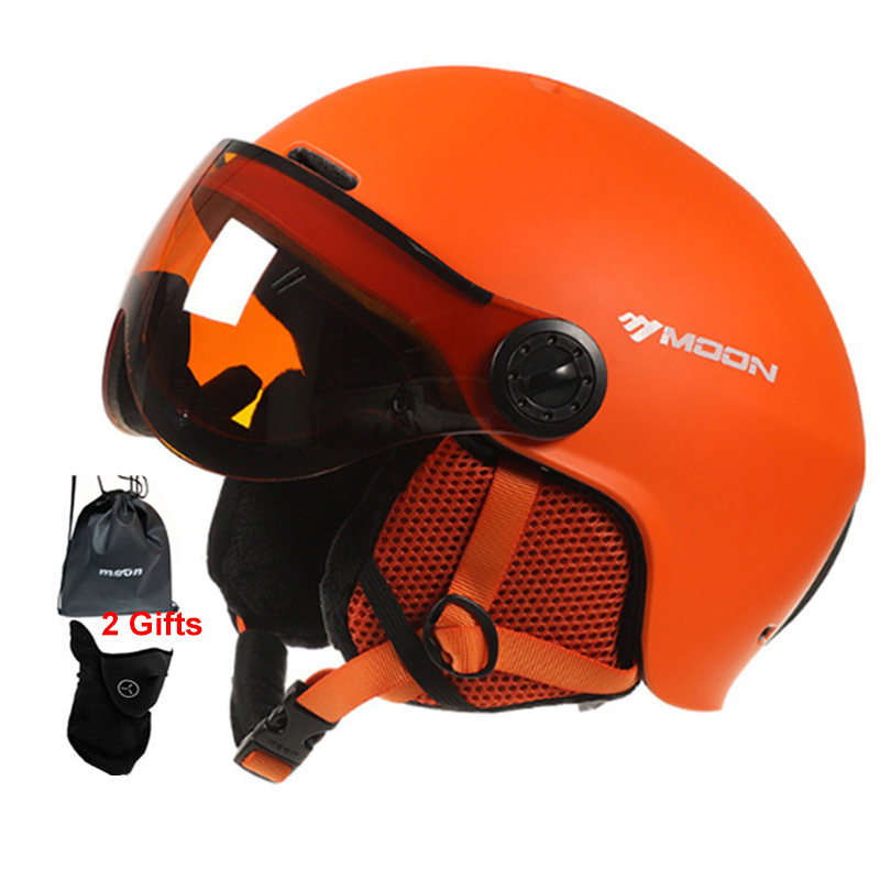 MOON Goggles Skiing Helmet Integrally-Molded PC+EPS High-Quality Ski Helmet Outdoor Adult Sport Ski Snowboard Skateboard Helmets