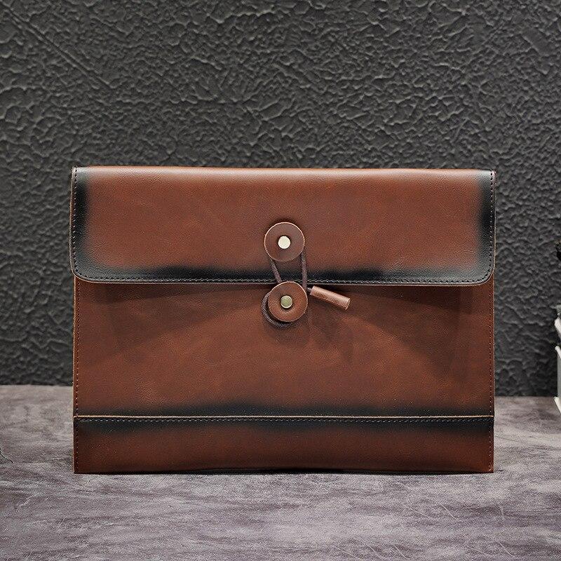 Yesetn Bag 092619 Retro Men S Envelope Bag Business A4 Paper Large Hand Grab Bag