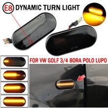 2 шт. светодиодный динамический Боковой габаритный фонарь поворота светильник для Volkswagen VW Bora Golf 3 4 Passat 3BG поло SB6 SEAT Ibiza Leon Skoda Ford