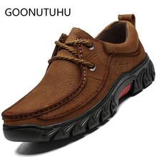2019 new fashion men's shoes casual genuine leather male sneakers big size 38-47 lace up shoe man comfortable flat shoes for men недорого