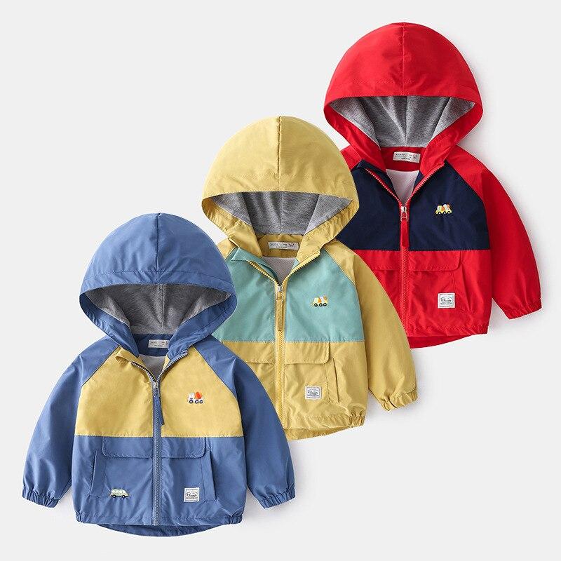 Boy's jacket spring and autumn tide baby long-sleeved Korean cartoon zipper shirt hooded children's clothing children 1014 18