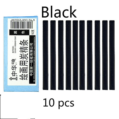 Черный уголь, брусок коричневый темно-серые растворимые в воде черный угольный карандаш дизайн Тип карандаш для рисования скетчей Рисование набросков расходные материалы - Характеристики: Black  1 box